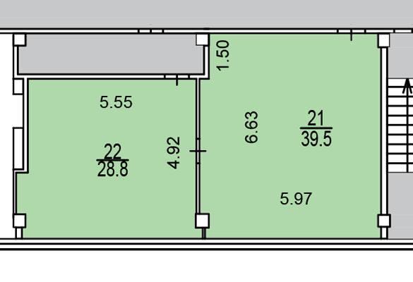 Офис 68 м²