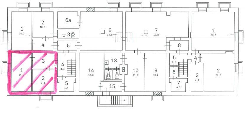 Помещение 33 м²