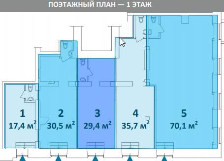 Ритейл, 36 м²