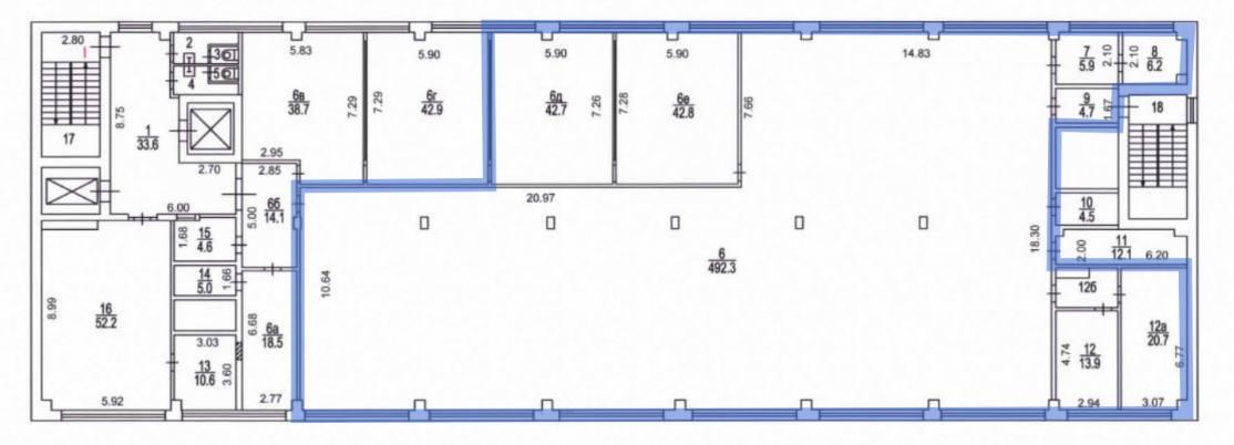 Офис, 715 м²