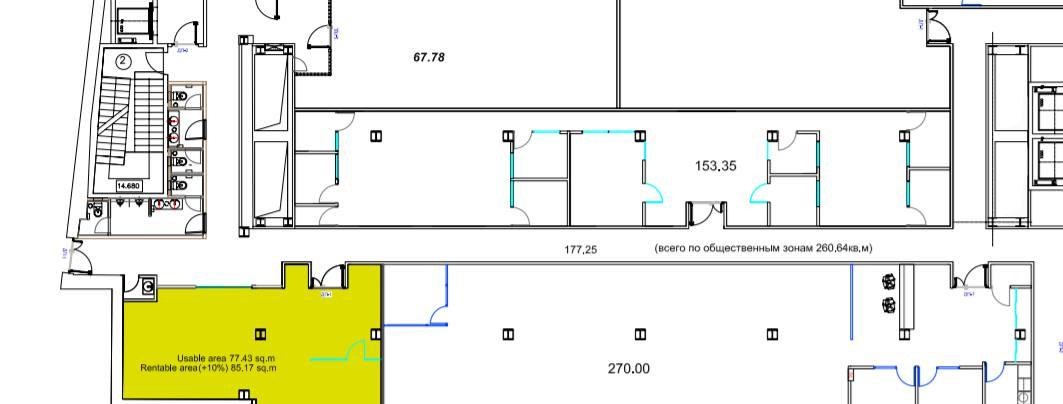 Помещение 85 м²