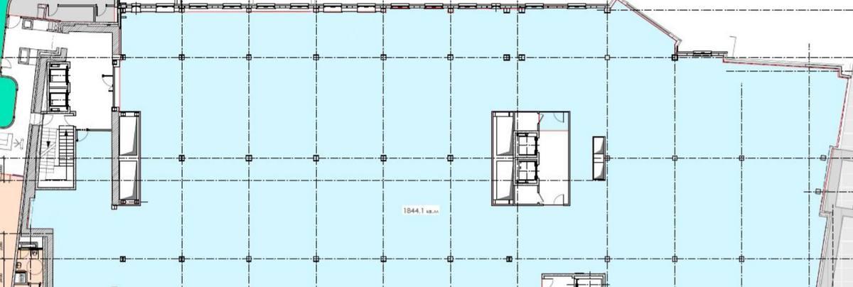 Помещение 1 844 м²