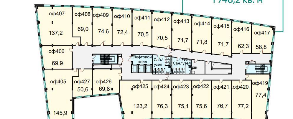 Помещение 1 748 м²