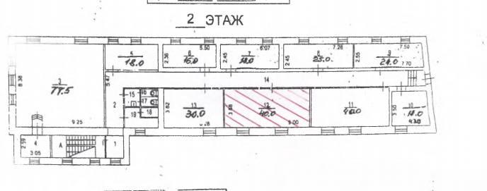 Помещение 40 м²