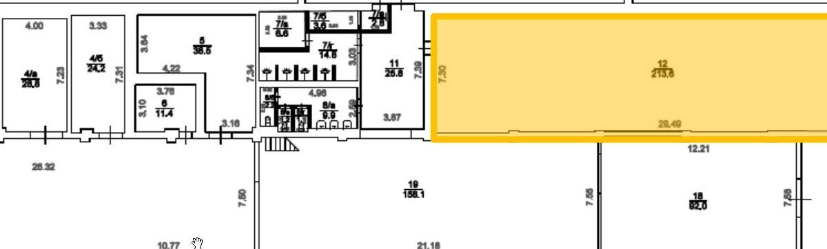 Помещение 213 м²